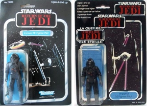 Kenner Tie Fighter Pilot And A Trilogo Tie Fighter Pilot