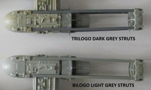 Bilogo & Trilogo Y-Wing Struts Comparison