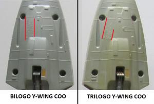 Bilogo & Trilogo Y-Wing COO Comparison
