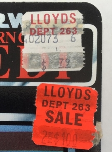 lloyds price sticker